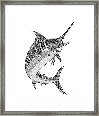 Tribal Marlin IIi Framed Print by Carol Lynne
