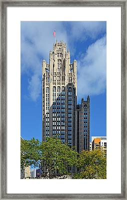 Tribune Tower Chicago - History Is Part Of The Building Framed Print by Christine Till