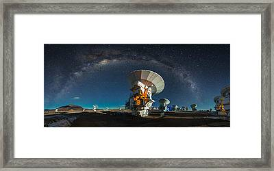 Tribute To Carl Sagan Framed Print by Adhemar Duro