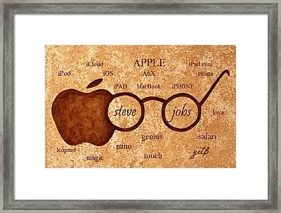 Tribute To Steve Jobs 2 Digital Art Framed Print by Georgeta  Blanaru