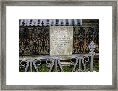 Tribute To Tennessee Framed Print by Robert Hebert