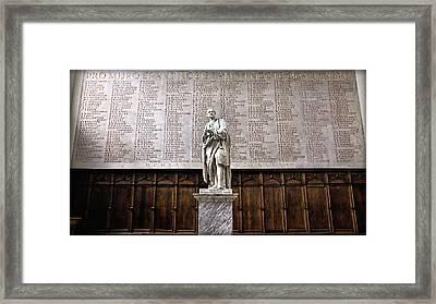 Tribute - Trinity College Framed Print by Stephen Stookey