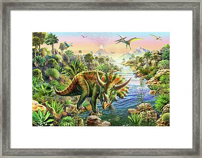 Triceratops 2 Framed Print by Adrian Chesterman