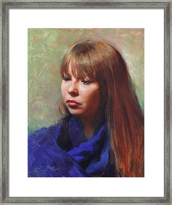 Tricia Framed Print by Anna Rose Bain