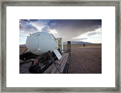 Trinity Atomic Bomb Test Site Framed Print by Peter Menzel