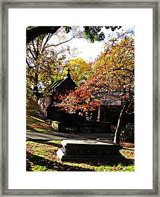 Trinity Cemetery 3 Framed Print by Sarah Loft