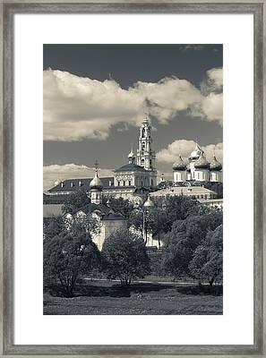 Trinity Monastery Of St. Sergius Framed Print by Panoramic Images