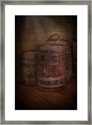 Triple Barrels Framed Print by Susan Candelario