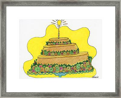 Triple-decker Flan  Framed Print by Mag Pringle Gire