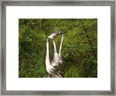 Triple Falls  Framed Print by Jeff Swan