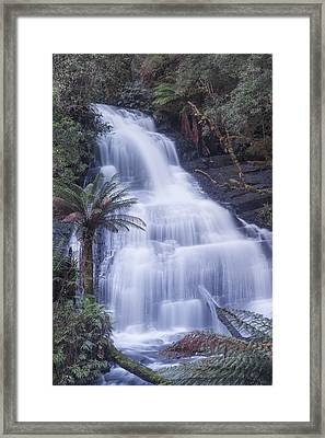Triplet Falls Framed Print by Shari Mattox