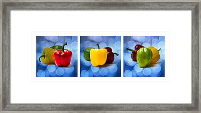 Triptych - Pepper Traffic Lights 1 Framed Print by Alexander Senin