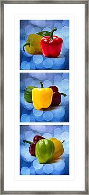 Triptych - Pepper Traffic Lights 2 Framed Print by Alexander Senin