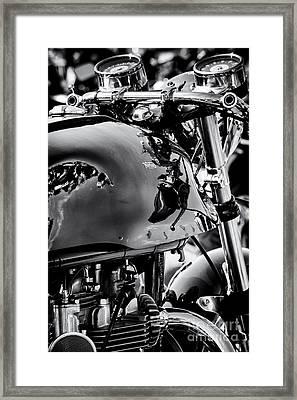Triton Cafe Racer Portrait Framed Print by Tim Gainey