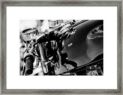 Triton Cafe Racer Framed Print by Tim Gainey