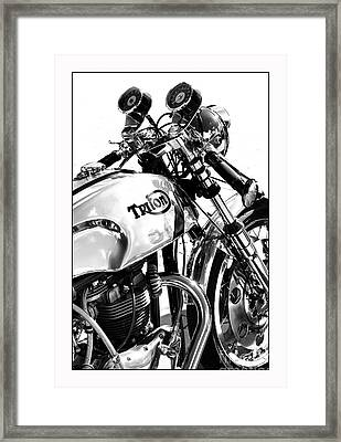 Triton Motorcycle Framed Print by Tim Gainey