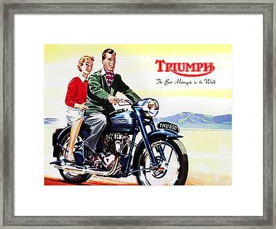 Triumph 1953 Framed Print by Mark Rogan