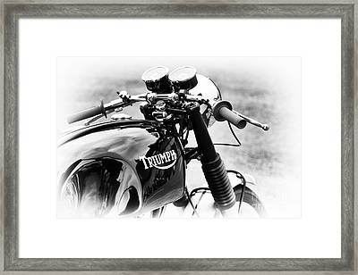 Triumph Cafe Racer Framed Print by Tim Gainey