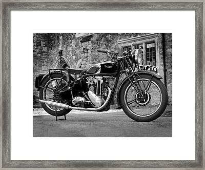 Triumph De Luxe 1939 Framed Print by Mark Rogan