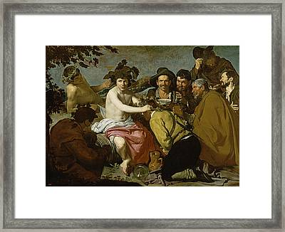 Triumph Of Bacchus, 1628 Oil On Canvas Framed Print by Diego Rodriguez de Silva y Velazquez