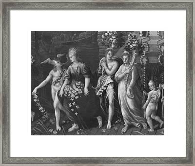 Triumph Of Spring Framed Print by Antoine Caron