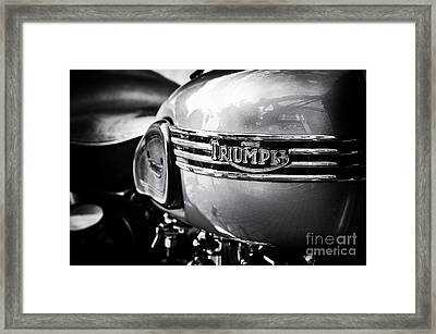 Triumph Tiger T110 Motorcycle Framed Print by Tim Gainey