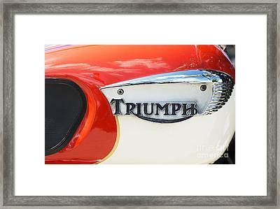 Triumph Tiger 90 Tank Badge Framed Print by Tim Gainey