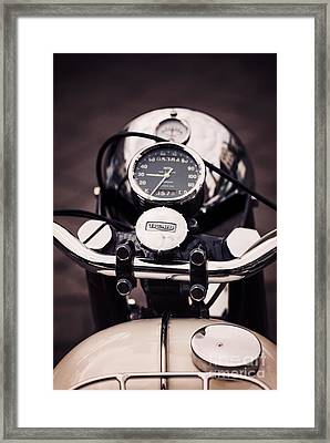 Triumph Tiger 90 Framed Print by Tim Gainey