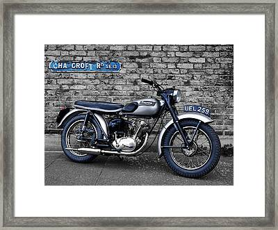 Triumph Tiger Cub Framed Print by Mark Rogan