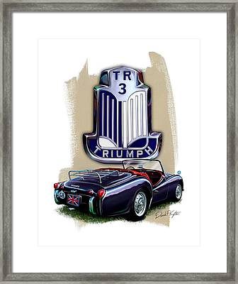 Triumph Tr-3 Sportscar Framed Print by David Kyte