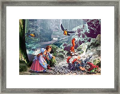 Troll Forest Framed Print by Zorina Baldescu