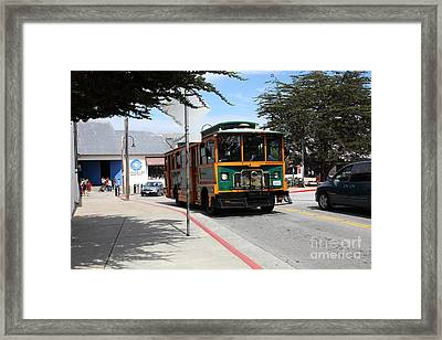 Trolley At The Monterey Bay Aquarium On Monterey Cannery Row California 5d25105 Framed Print by Wingsdomain Art and Photography