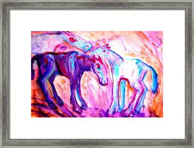 We Are A Family And We Will Not Split Up  Framed Print by Hilde Widerberg