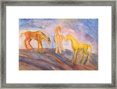 Are You Still Remembering Us Or Have You Forgotten All About It Framed Print by Hilde Widerberg