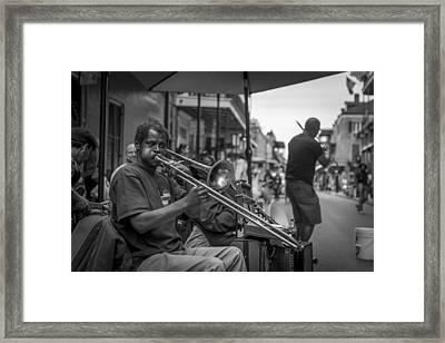 Trombone In New Orleans 2 Framed Print by David Morefield