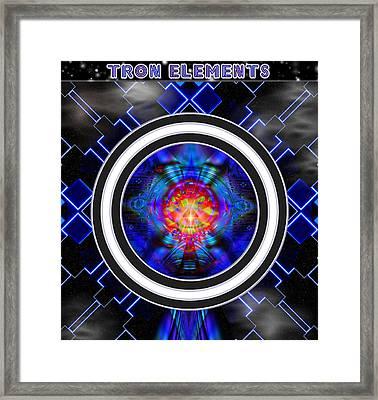 Tron Elements Framed Print by Mario Carini