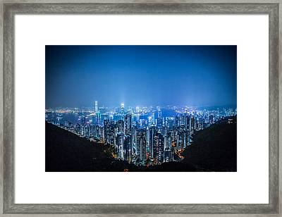 Tron Kong Framed Print by Mike Lee