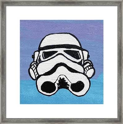 Trooper On Purple Framed Print by Jera Sky