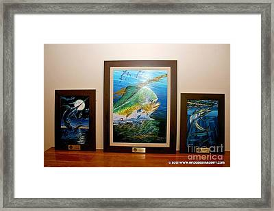 Trophies Framed Print by Carey Chen