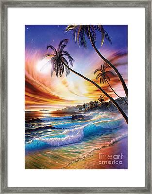Tropical Beach Framed Print by Adrian Chesterman