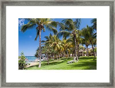 Tropical Beach I. Mauritius Framed Print by Jenny Rainbow
