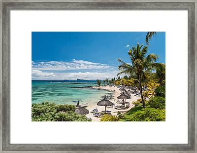 Tropical Beach II. Mauritius Framed Print by Jenny Rainbow