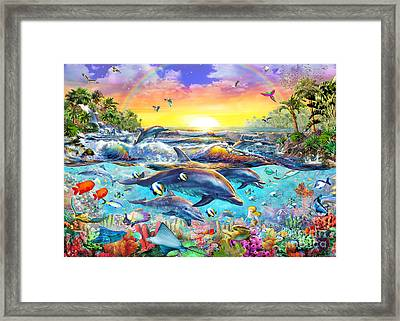 Tropical Cove Framed Print by Adrian Chesterman