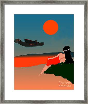 Tropical Departure Framed Print by Timothy OLeary