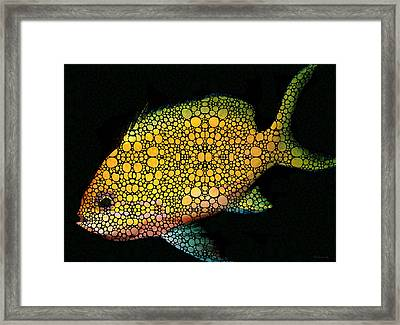 Tropical Fish Art 14 By Sharon Cummings Framed Print by Sharon Cummings