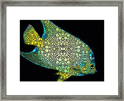 Tropical Fish Art 8 - Abstract Mosaic By Sharon Cummings Framed Print by Sharon Cummings
