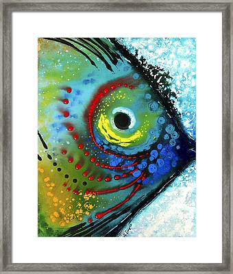 Tropical Fish - Art By Sharon Cummings Framed Print by Sharon Cummings