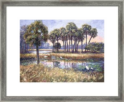 Tropical Friends Framed Print by Laurie Hein