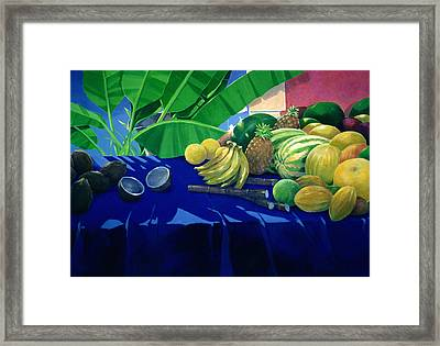 Tropical Fruit Framed Print by Lincoln Seligman