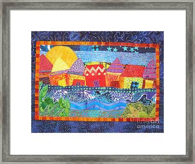 Tropical Harmony Framed Print by Susan Rienzo